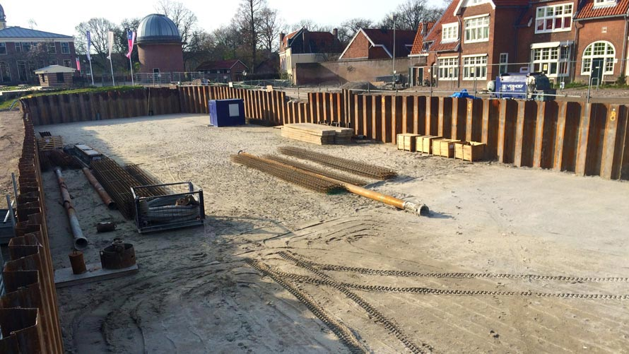 HP Staal Sheet Piling Project Sterrewacht in Leiden