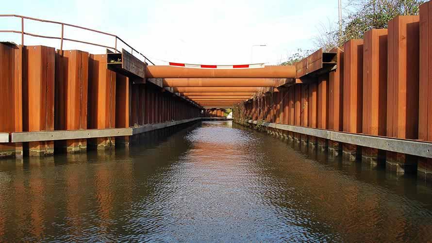 HP Staal Projekt temporärer Wasserabfluss Breukelen