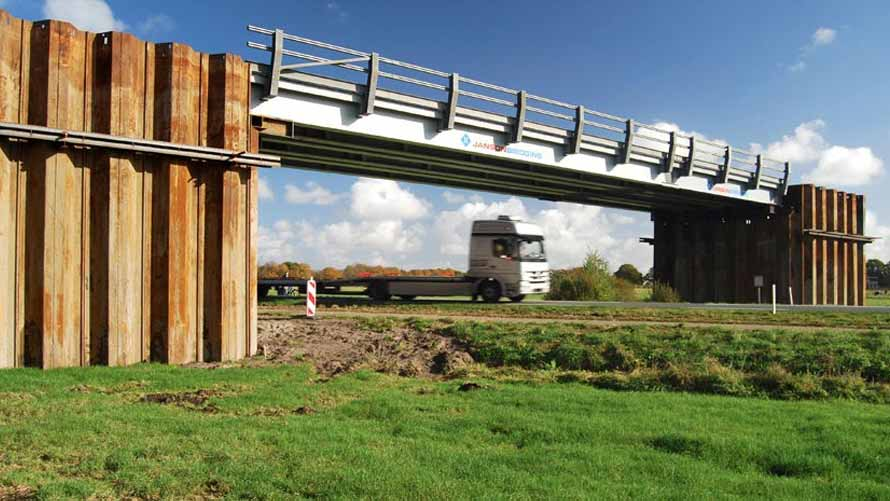 HP Staal Temporäre Brücke benötigt