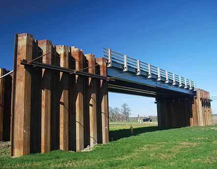 HP Staal Projekt temporäre Brücke Twente